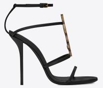 Cassandra 110 Sandale aus schwarzem Leder