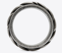 Folk Ring aus silberfarbenem Metall