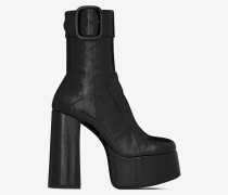 BILLY schwarze Stiefel aus schwarzem Aalleder