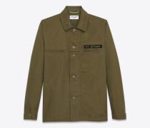 """bad lieutenant""-hemd aus khakigrüner gabardine"
