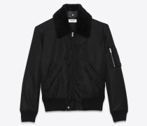 BOMBER ARMY IN NYLON AND SHEARLING