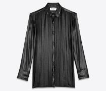 Bluse aus Metallic-Seidenvoile