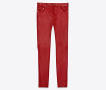 Skinny Jeans aus Stretch-Lammleder