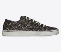 Bedford Sneakers aus schwarzem Glitzer