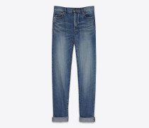 weite jeans in vintage-blau