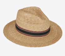 Panama-Hut aus Stroh mit kontrastierendem, gestreiftem Canvasband