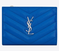 MONOGRAM Zippered two-part wallet in grain de poudre embossed patent leather