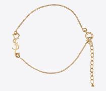 armband mit anhänger in gold