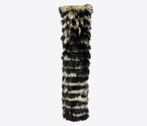 scarf in Fur with narrow stripes