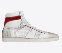 COURT CLASSIC SL/10H sneakers in perforated lamé leather