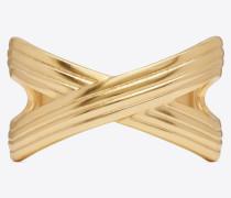Ribbon bracelet in brass