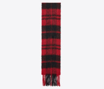 Plaid scarf in a knit wool blend