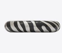 Zebra Animal Armband aus goldfarbenem Metall und schwarzem Email