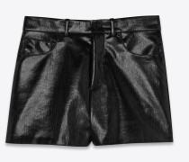 Shorts aus schwarzem Vinyl