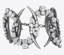 SMOKING Armband aus Metall und Kristallen