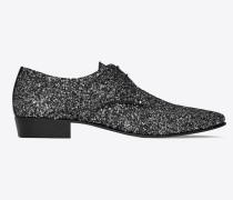 Hopper 30 Derby-Schuh aus schwarzem Glitzer