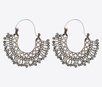 Folk Ohrringe aus silberfarbenem Metall mit Glocken