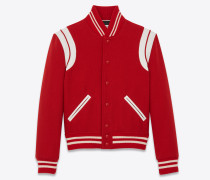 Saint Laurent College-Jacke aus Wolle
