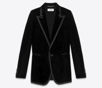 Tuxedo Jacke aus schwarzem Samt