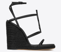 CASSANDRA Wedge espadrilles in leather