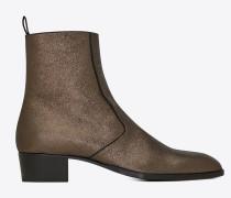 WYATT boot in crinkled metallic leather