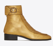 Miles boots in metallic leather