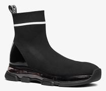 MK Hi-Top-Sneaker Kendra Aus Stretch-Textil - Schwarz/weiss(Schwarz) - Michael Kors