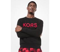 Sweatshirt aus Baumwollmischgewebe mit Kors-Schriftzug aus Frottee