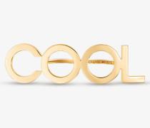 Zweifingerring aus Messing im Goldton mit Cool-Schriftzug