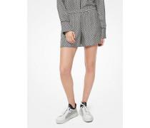 Shorts im Pyjama-Stil aus Seiden-Twill mit Logo in Schachbrettoptik