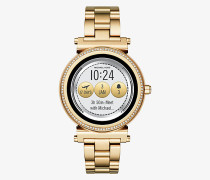Smartwatch Sofie im Goldton mit Pave-Fassung