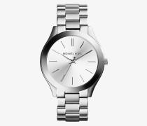 Armbanduhr Runway im Silberton