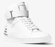 Knöchelhoher Sneaker Anthony aus Leder mit Nietenbesatz