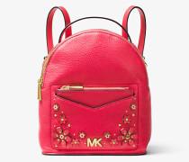 Wandelbarer Rucksack Jessa Small aus Gekrispeltem Leder mit Blumenapplikationen