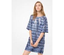 T-Shirt-Kleid Mit Pailletten Und Batikmuster