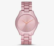MK Übergroße Armbanduhr Slim Runway Aus Aluminium In Rosa - Rosa(Rosa) - Michael Kors
