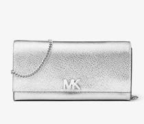 Brieftasche Mott aus Leder in Metallic-Optik mit Kette