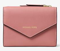 Brieftasche Jet Set Small aus Leder mit Umschlag