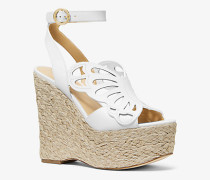 Wedge Felicity aus Leder im Schmetterlingsdesign