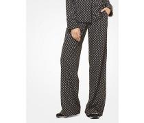 Pyjamahose mit Medaillonmuster und Nieten