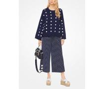 Oversize-Pullover aus Baumwolle mit Punktmuster