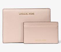 Schmale Brieftasche Jet Set Medium aus Saffianleder