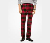 Slim-Fit-Hose aus Wolle mit Karomuster