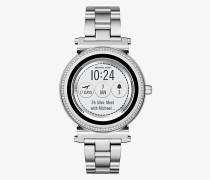 Smartwatch Sofie im Silberton mit Pave-Fassung