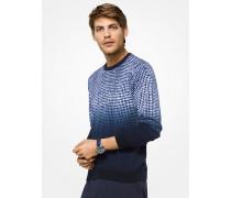 Pullover aus Baumwolle mit Vichykaro in Ombre-Optik