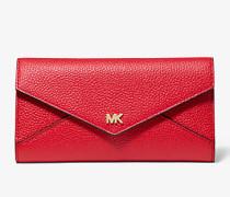 Große Brieftasche aus Gekrispeltem Leder mit Umschlag