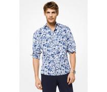 Slim-Fit-Hemd aus Baumwolle mit Blumenmuster