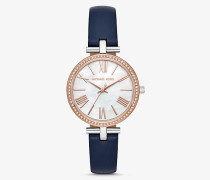 Zweifarbige Armbanduhr Maci mit Lederarmband