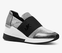 Sneaker Felix aus Mesh und Leder in Metallic-Optik