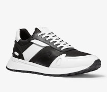 MK Sneaker Miles Aus Leder Und Nylon - Weiss/schwarz(Weiss) - Michael Kors